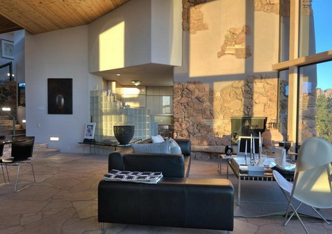 Sivatagi ház Arizona nappali interor