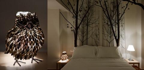 Moschino a design szálloda erdei szoba bagollyal