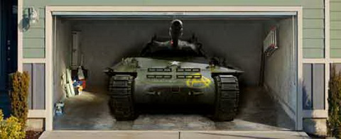 Garázsmatrica tank