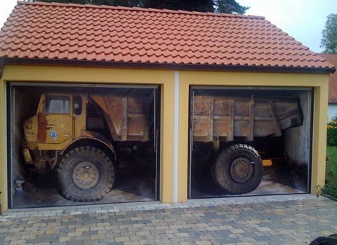 Garázsmatrica teherautó