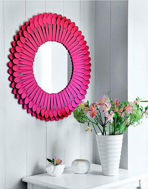 Napsugaras tükör falidísz DIY