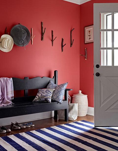 piros előszoba mud room