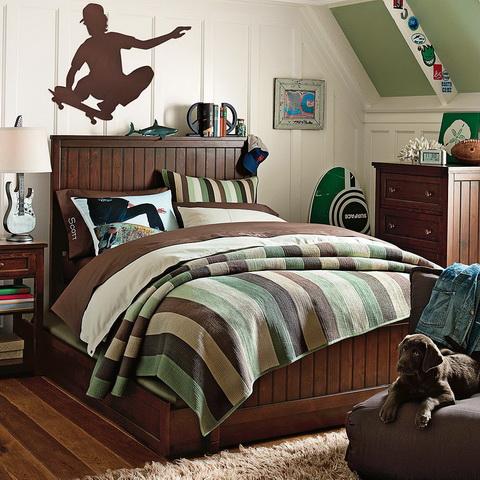 zöld barna tini fiú szoba