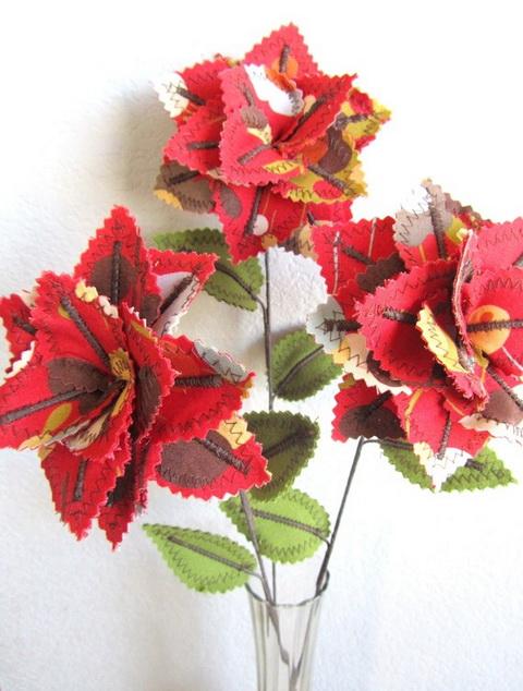 egyedi textilvirág