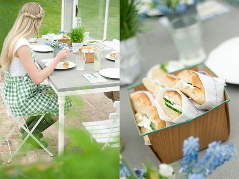 piknik tavasszal