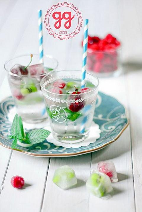 dekoratív jégkocka