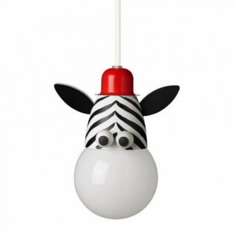 zebra lámpa