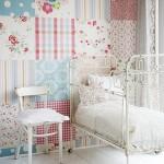 romantikus patchwork tapéta