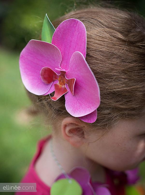 papír orchidea hajba