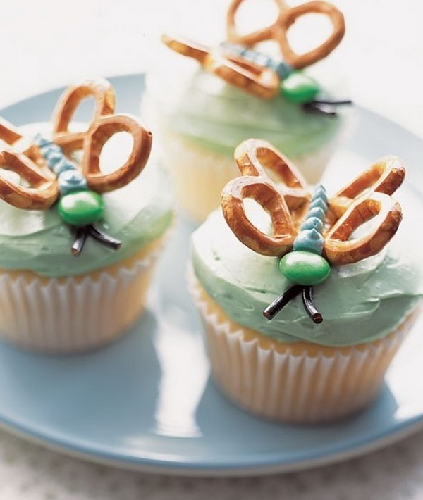 pillangós cupcake pereccel