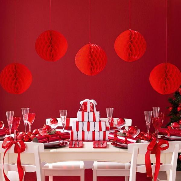 Piros méhsejt gömb dekor