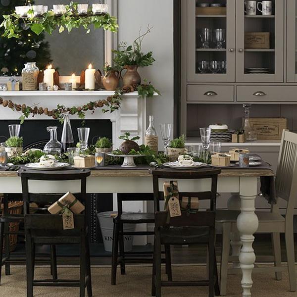 40 1 inspir l kar csonyi asztal dekorella for Kitchen dining room ideas uk