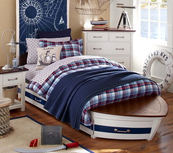hajó formájú ágy