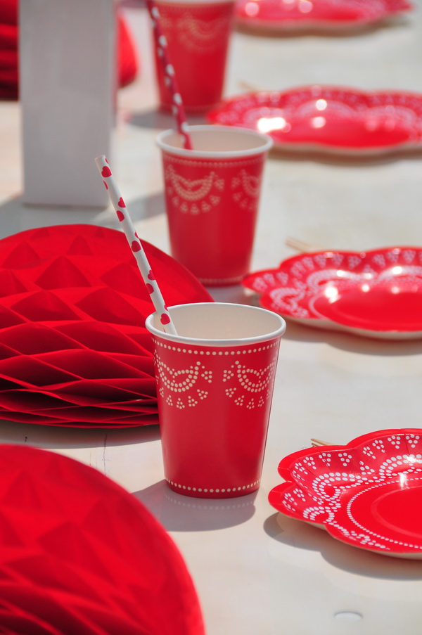 Piros fehér kerti party  (10)