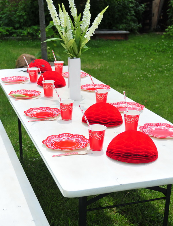Piros fehér kerti party  (13)