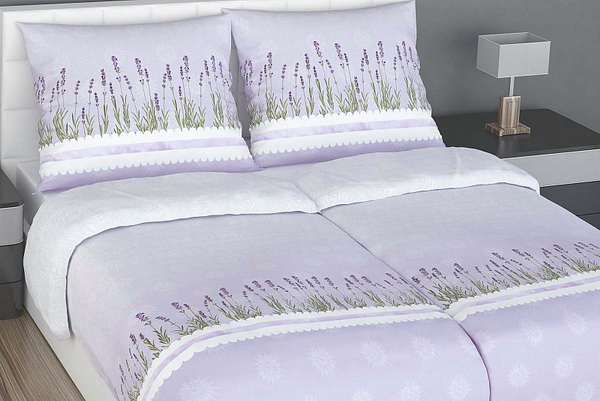 Lavanda minőségi pamut szatén ágynemű Glamonde