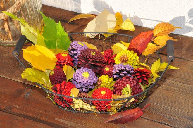 festett toboz virág - Dekorella