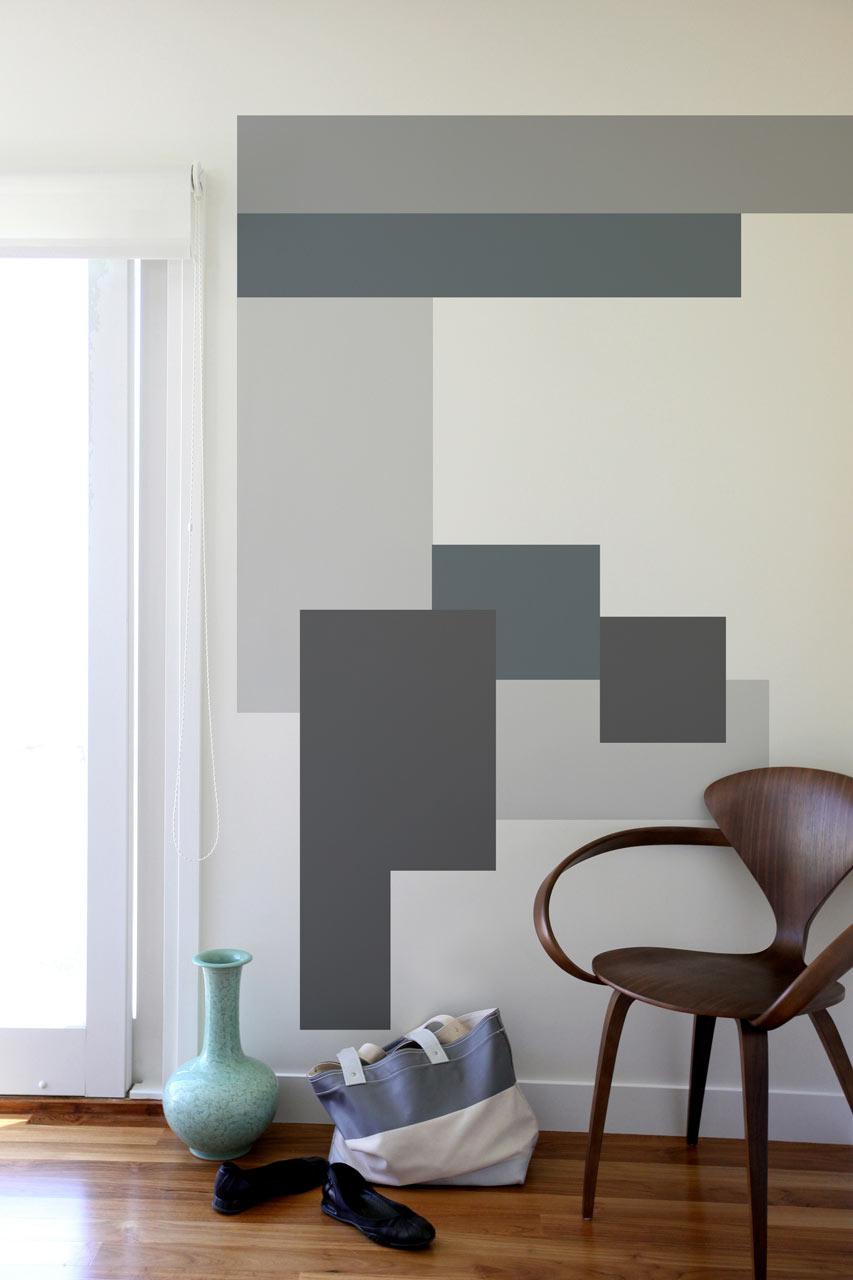 Modern, geometriai minta falon