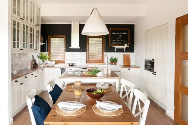 Romantikus vidéki nyaraló konyha - Unger Ágnes design
